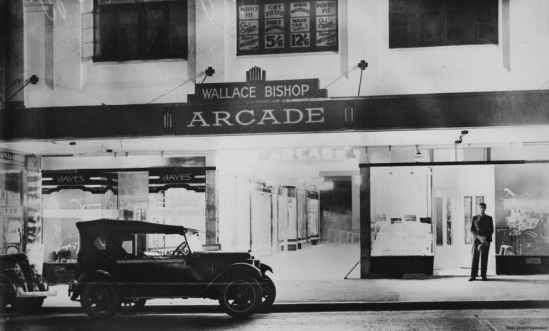Wallace Bishop Arcade, Brisbane, 1939. Image credit - State Library of Qld.