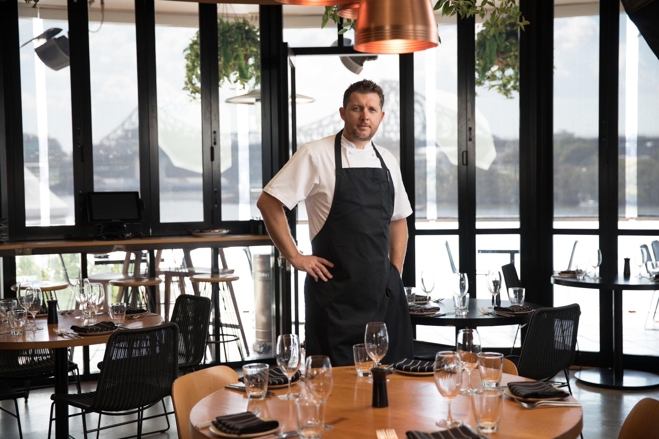 Head Chef Michael Crosbie. Image by David Hughes.