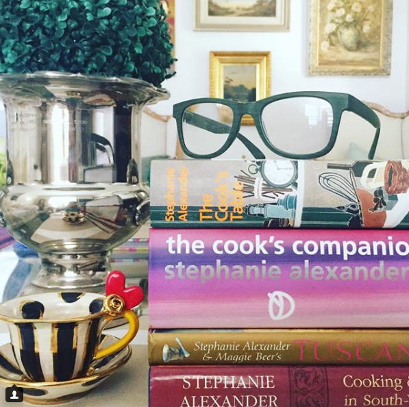 A collection of Kylie's favourite books. Image  Kylie Lang Instagram