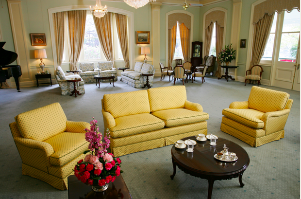 Government House, Drawing Room. Image - Government House website