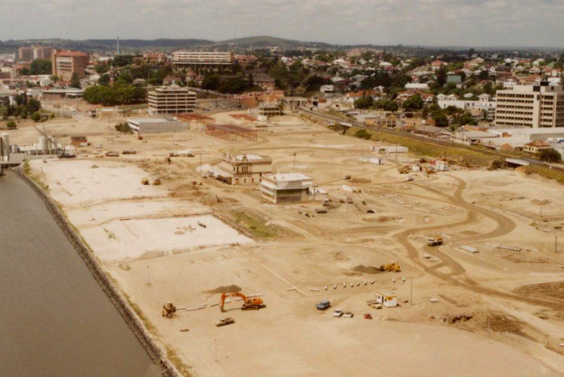 World Expo site before construction. Today this site is home to South Bank Parklands.