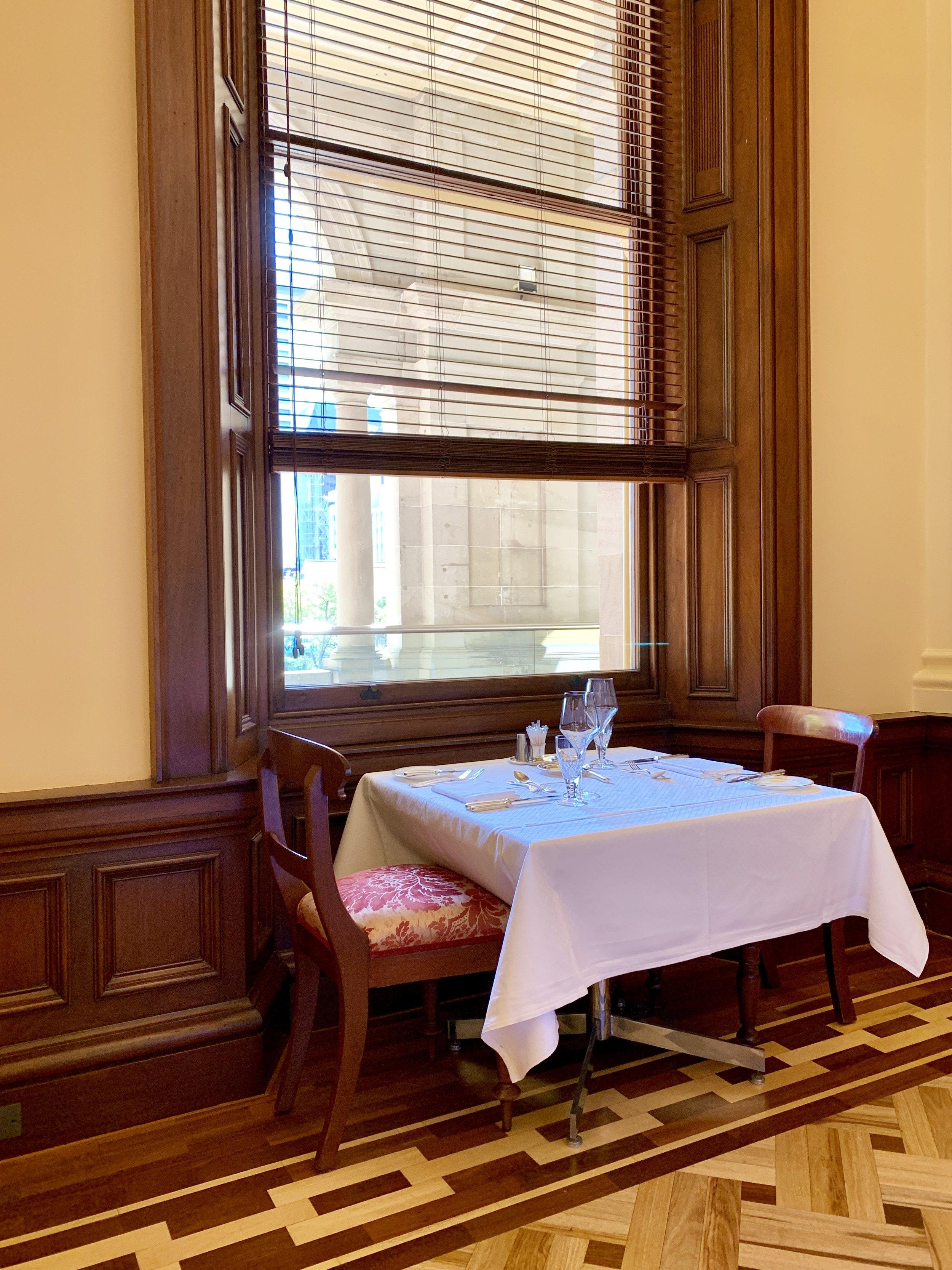 Lady Brisbane QLD Parliament Sometimes Strangers Dining room