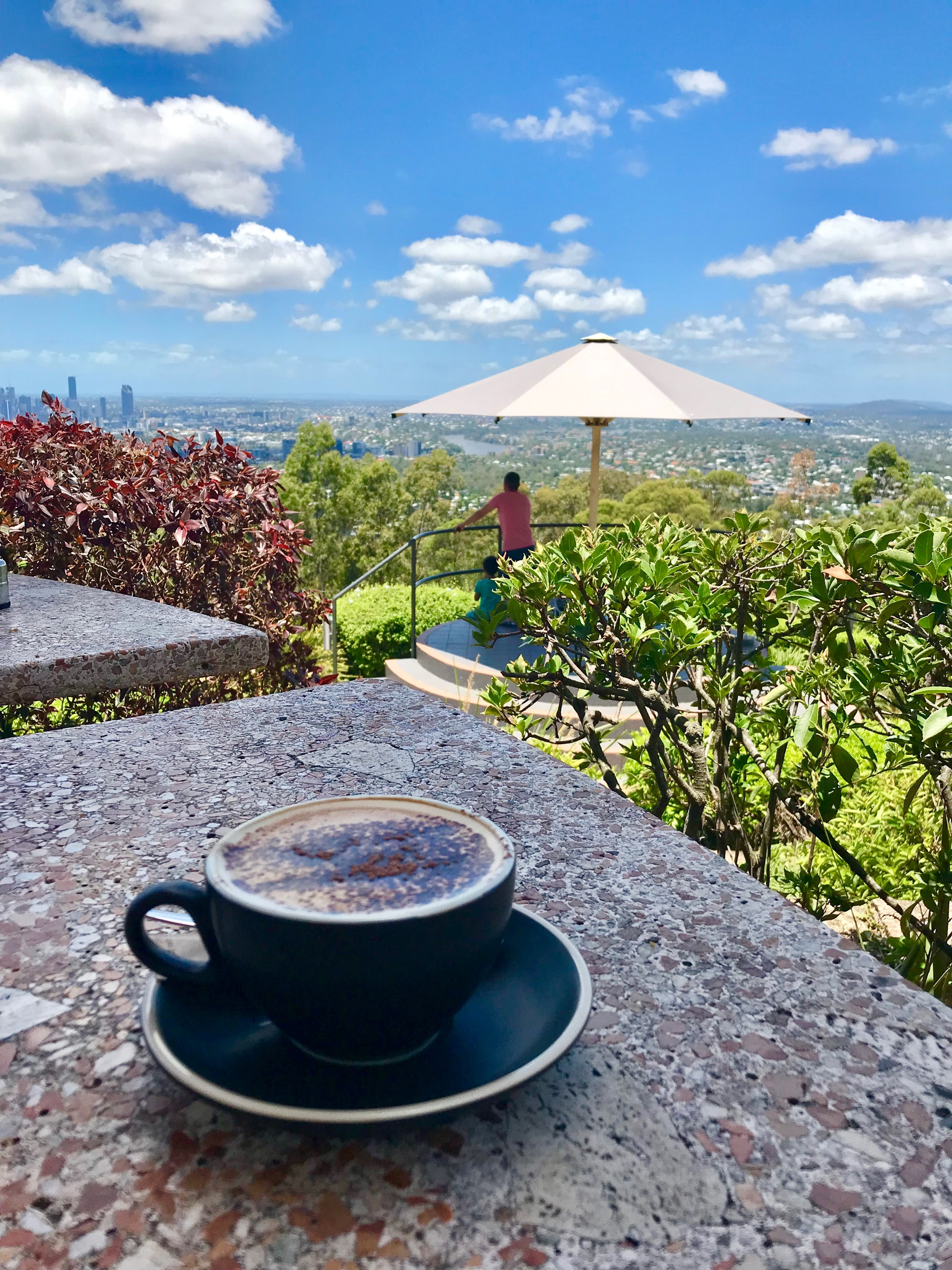 Lady Brisbane coffee view from Mt Coot tha