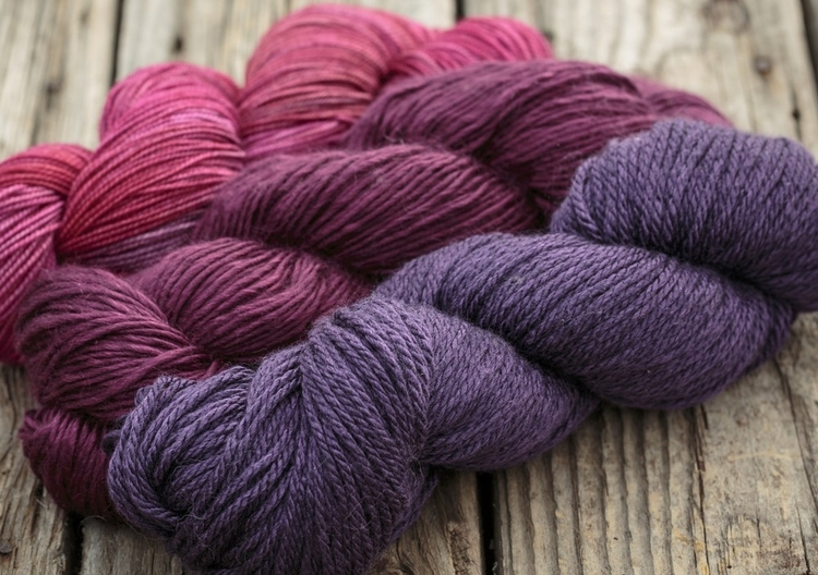 Beautiful luxury fibres and saturated colours are the hallmarks of Fyberspates' beautiful yarns. Image © Fyberspates