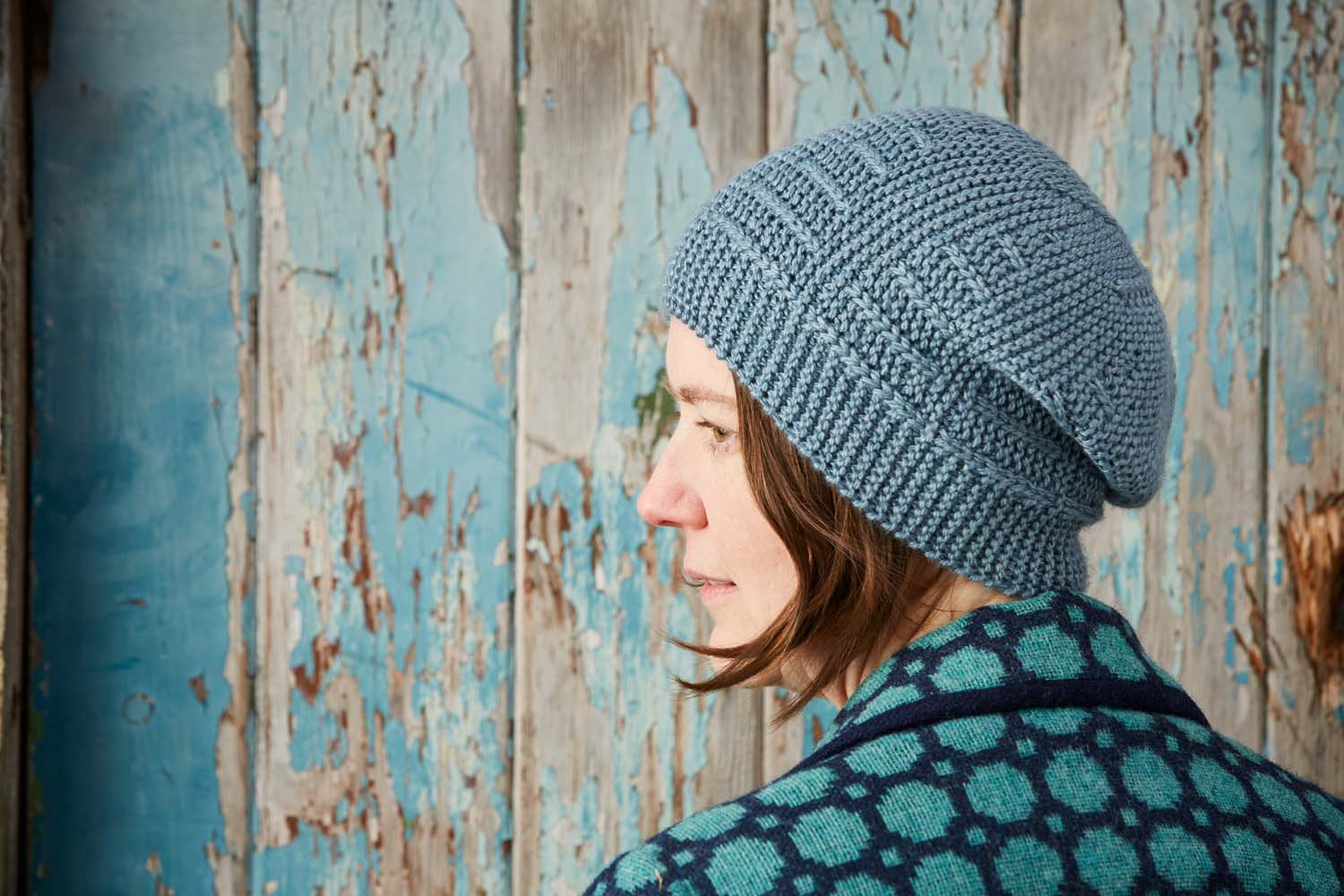 Woolly Wormhead's hat design for A Year of Techniques features short-row shaping. Image © Jesse Wild.
