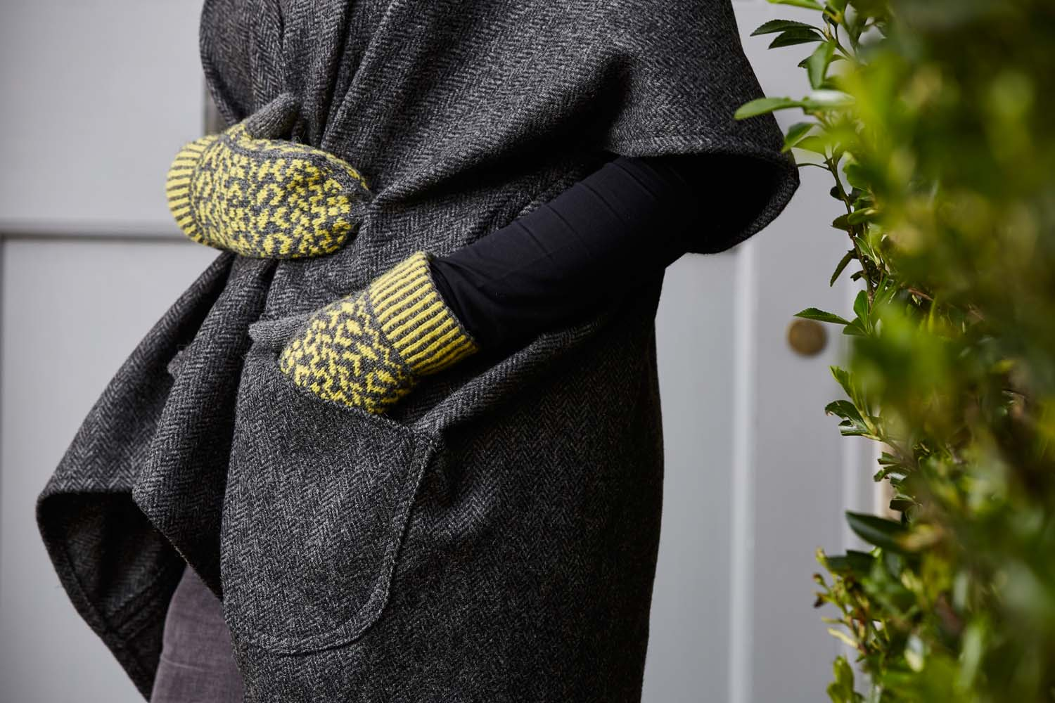 These two colour mittens are a great way to practise your stranded knitting. Image © Jesse Wild.