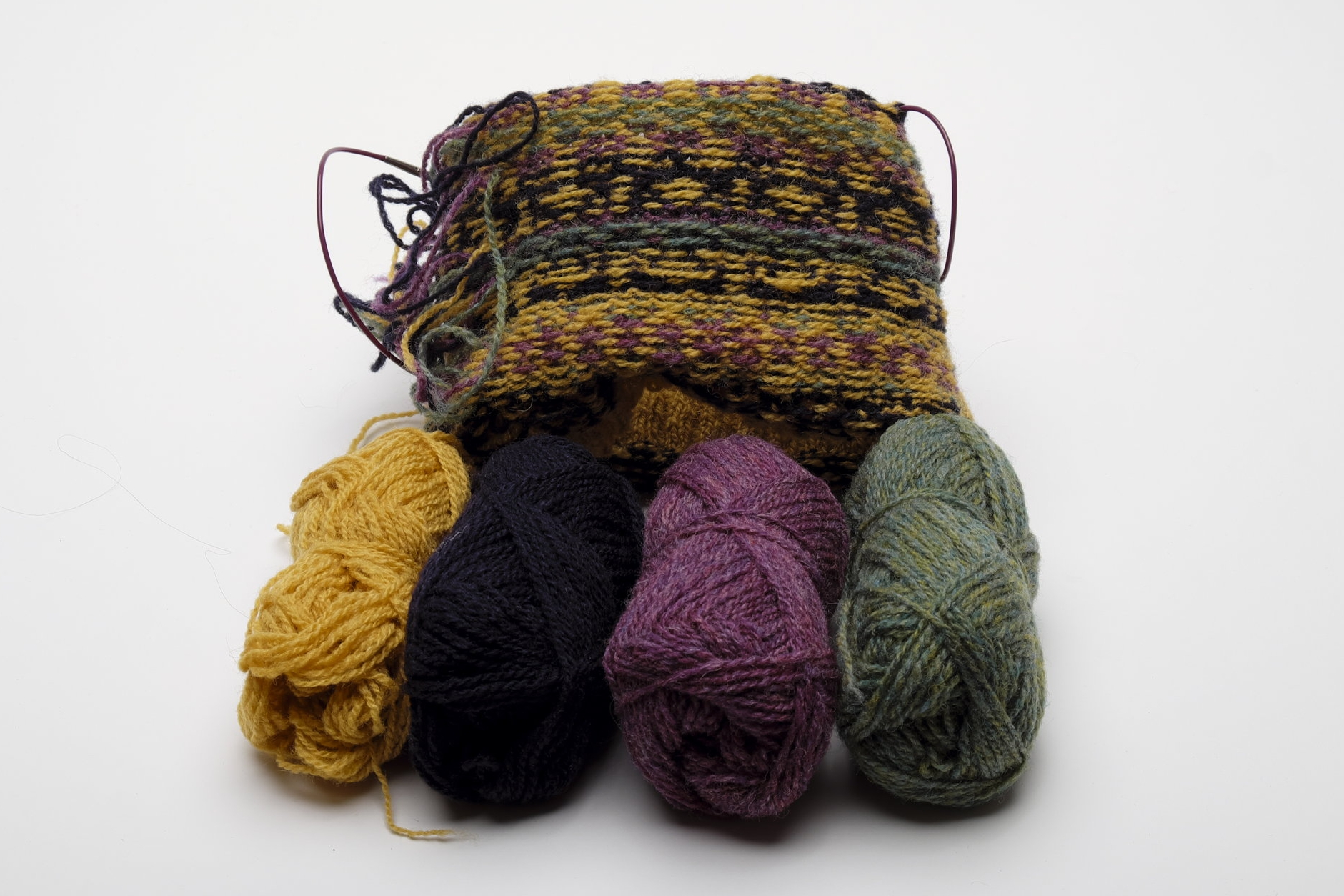You can see the effect of swapping the yarns over more clearly on the WS.