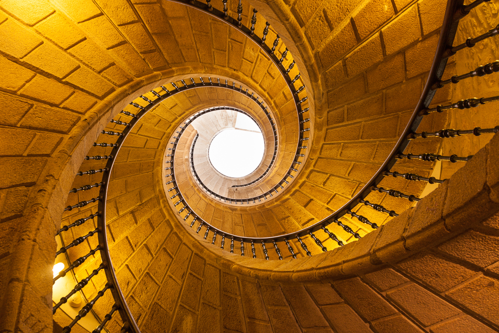 The Museo do Pobo Galego has a stunning triple helix staircase. Image © Jose Ignacio Soto / Shutterstock.com