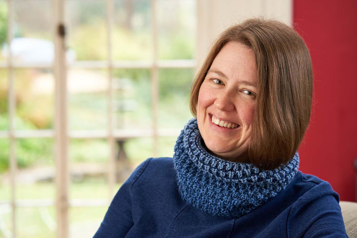 The Bramen Cowl, designed by Nancy Marchant for Boost Your Knitting. Photo credit: Jesse Wild.