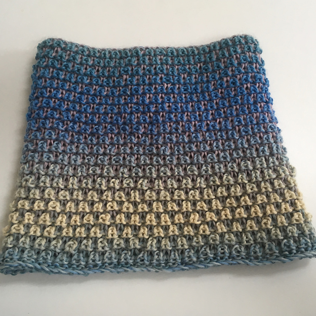 The Bramen Cowl in  Rush Hour , knit by  Saralu