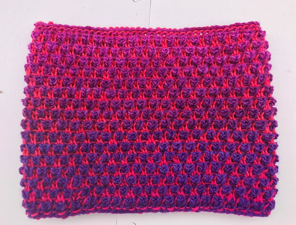 Melissa92's Bramen Cowl , knit in a sportweight gradient yarn