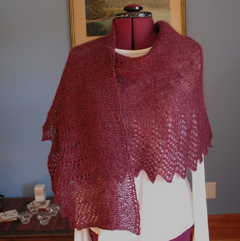Mary (Ravelry name: JustMary) completed a lovely  Hap for Harriet .