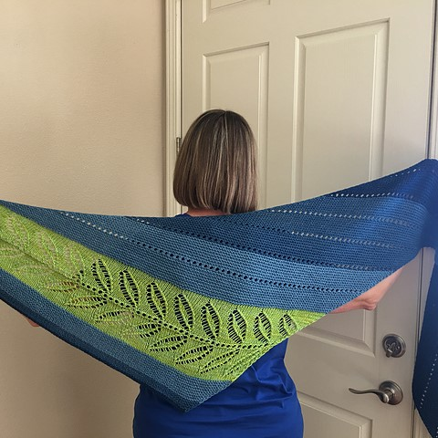 Joy (KnittingJoy on Ravelry) knit a fabulous spring-y  Silverleaf .