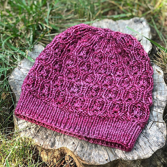 My own Apple Swizzle Hat, in  Fyberspates Vivacious shade Spiced Plum , awaiting blocking and a pompom!