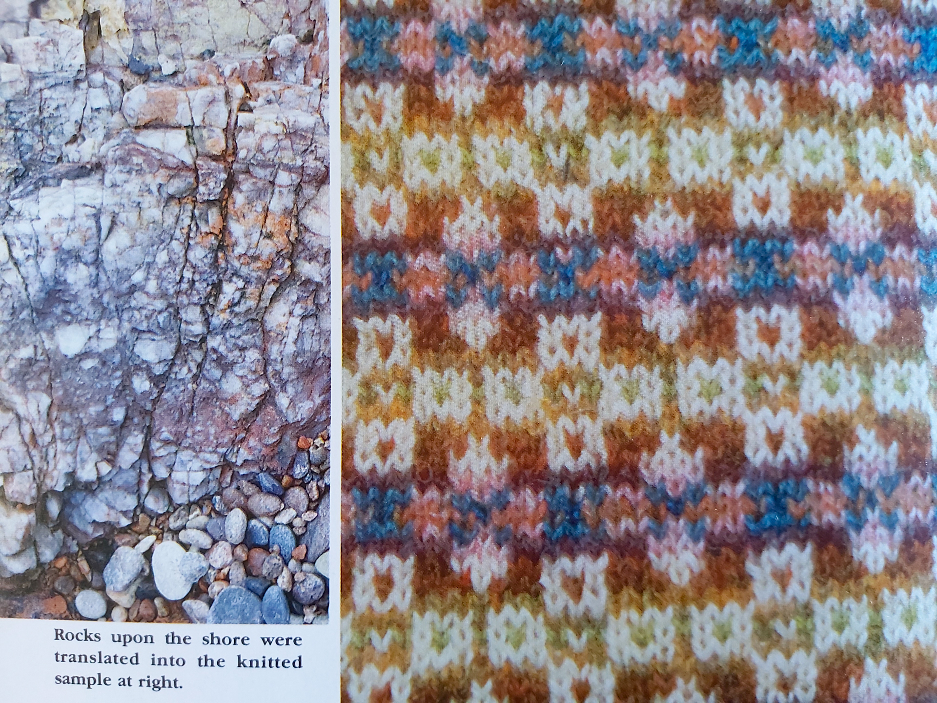 Sample page from Alice Starmore's  Fair Isle Knitting . Photo courtesy of Felicity Ford.