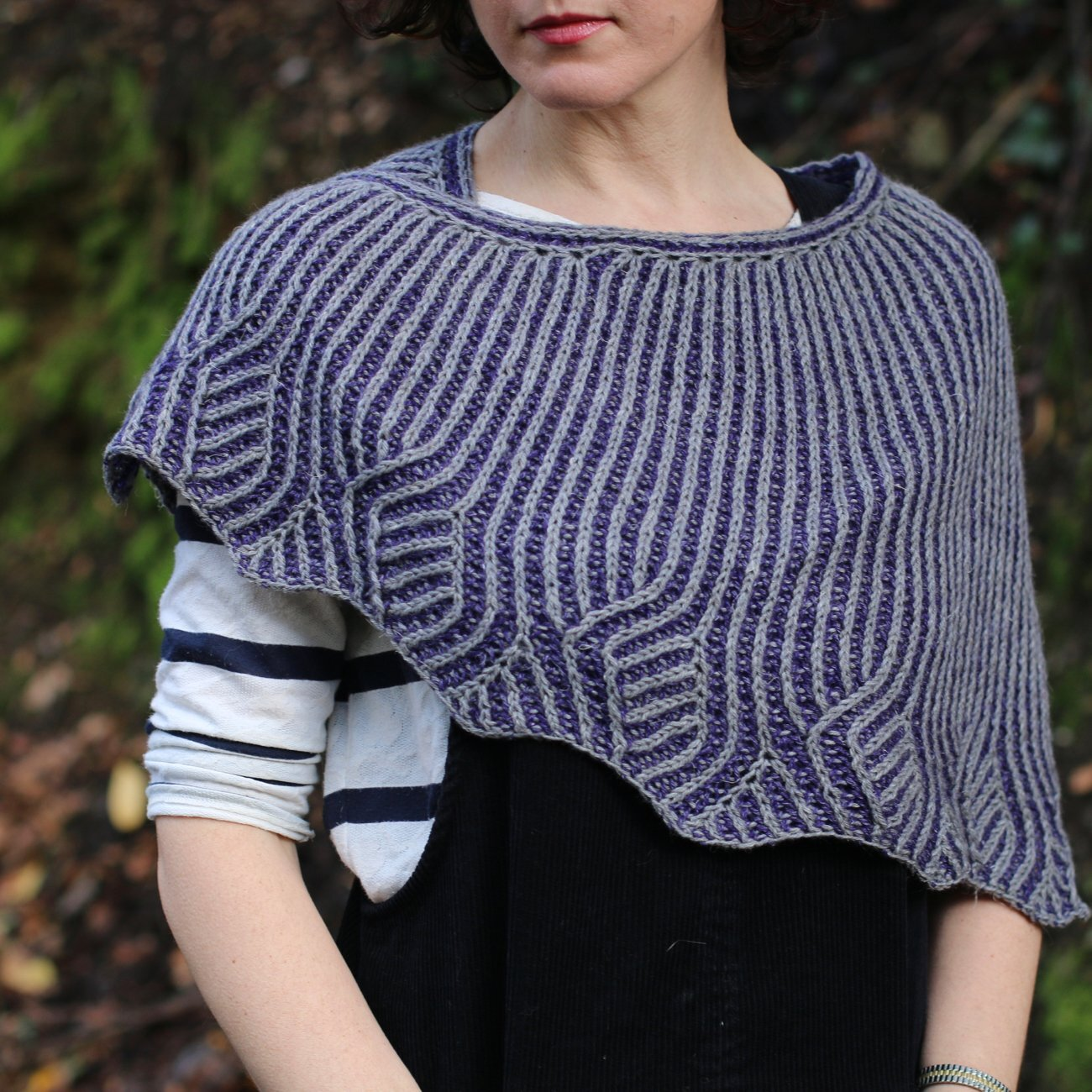Carol's design,  Vines and Vale , which quite a few participants in this month's Boost Your Knitting KAL have opted to knit! What a beauty. Photo courtesy of Carol Feller.
