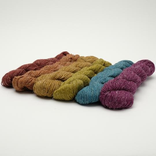 Carol's yarn, Nua, a unique blend of merino, yak, and linen, is available in  our online shop  and directly from Carol's website,  Stolen Stitches .