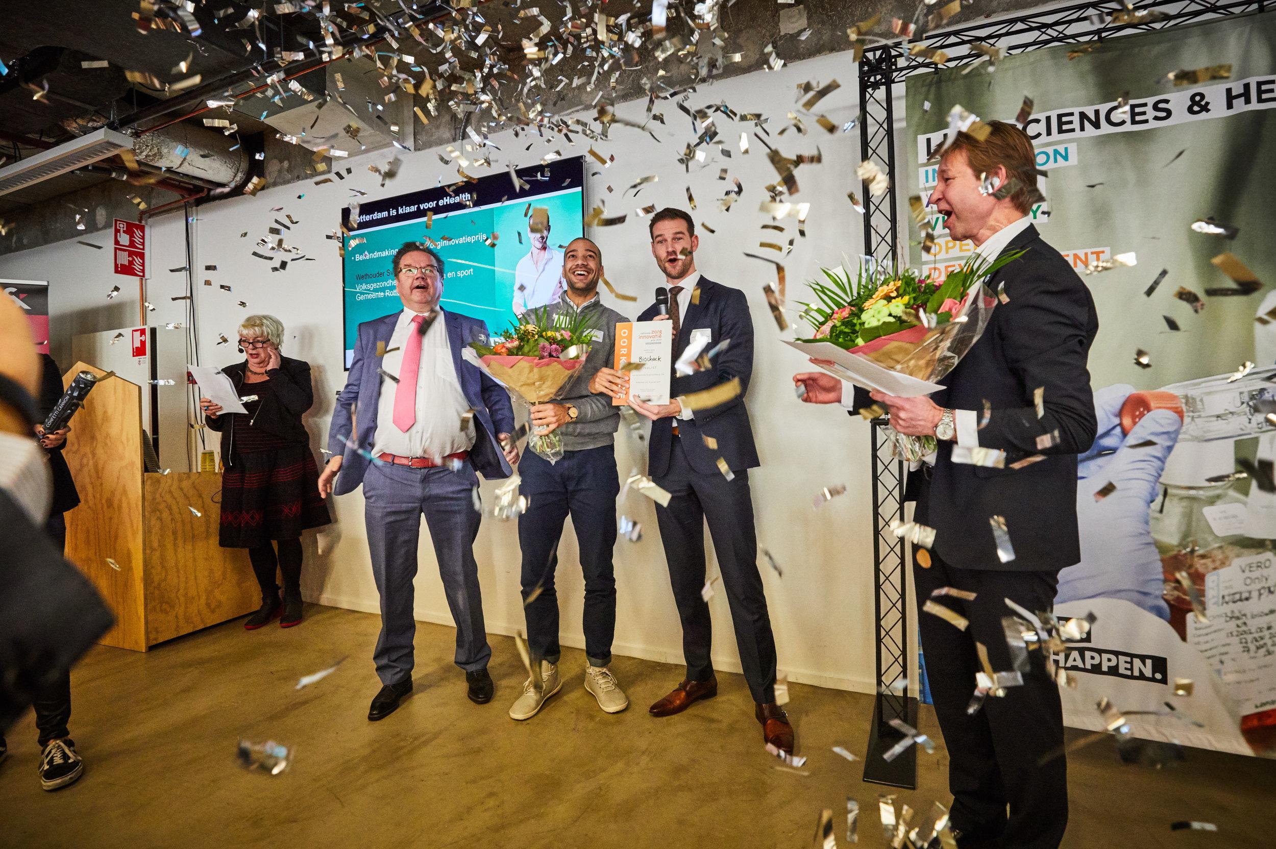 Uitreiking feest Zorginnovatieprijs Jan-Willem Hoogeweegen Thuishulp Rotterdam jdg_23-01-19_e-health_IB5A8707.jpg