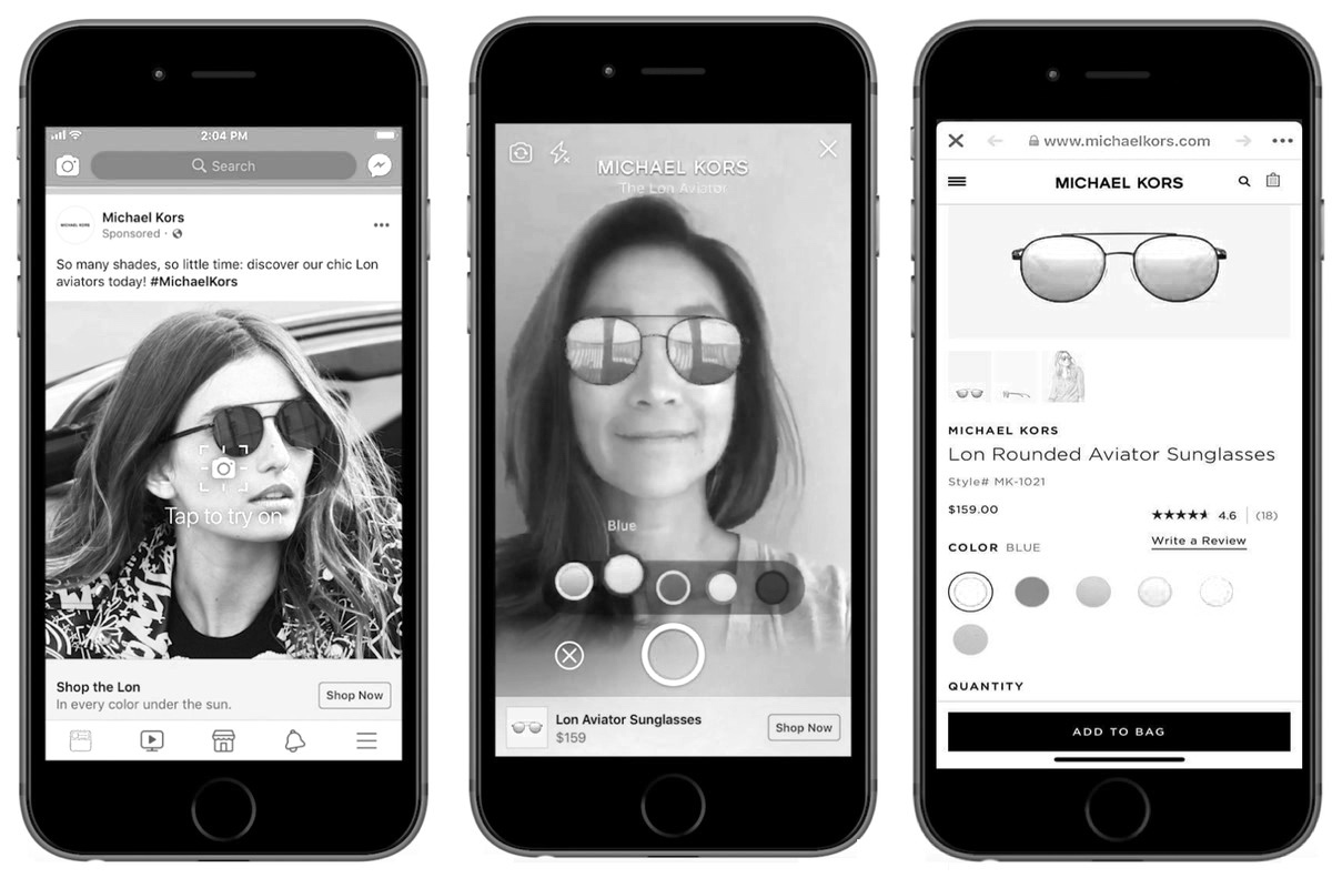 Hello selfie commerce! Op o.a. Facebook kun je al gebruikmaken van augmented reality shopping ads. Interesting, right?