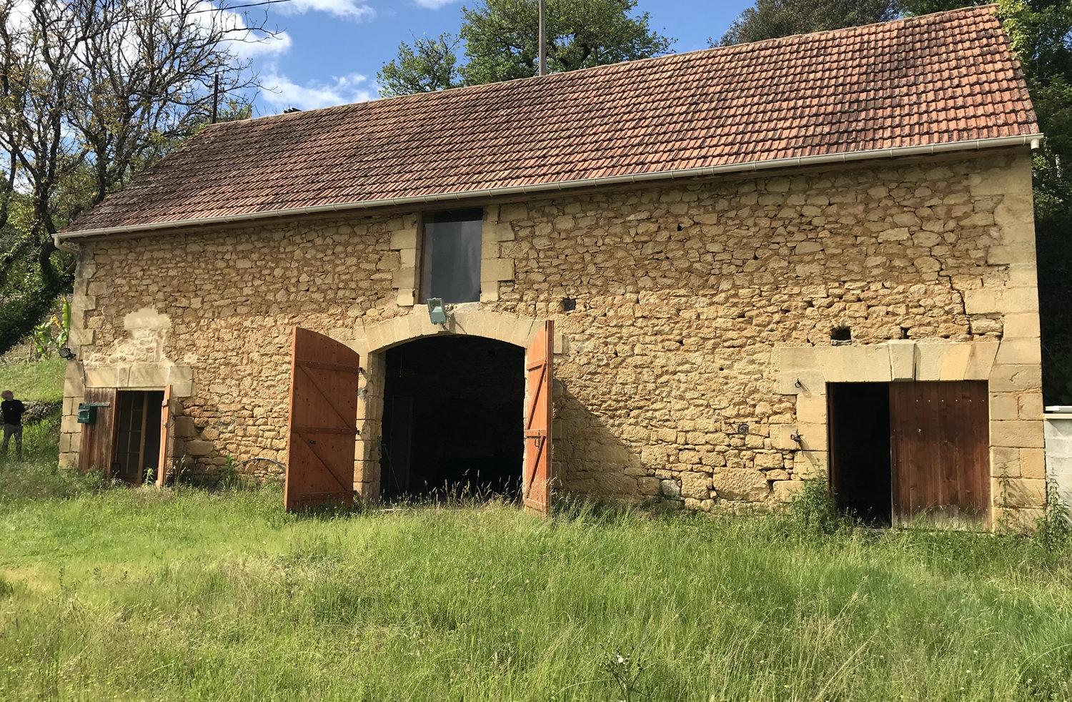 I am in the process of purchasing this stone barn from 1902 which will be my studio. I will move my etching press and some of the studio pets. Location is in Vèzac, Périgord Noir, France. Expected move in date October 1 2019.