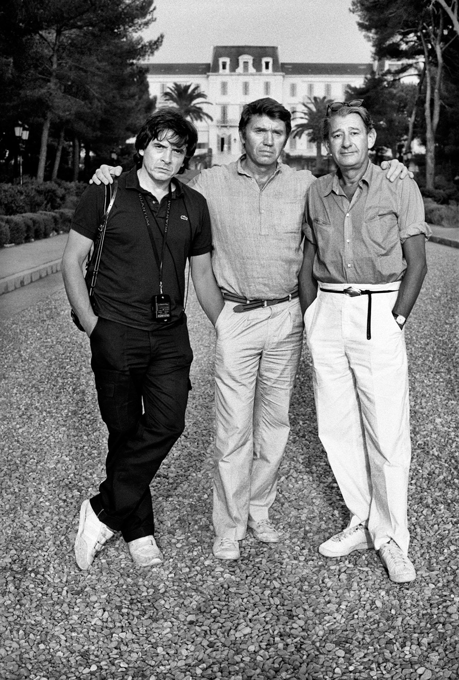AS Helmut with David Bailey and Don McCullin, Cap d'Antibes, France, 1982 LR.jpg