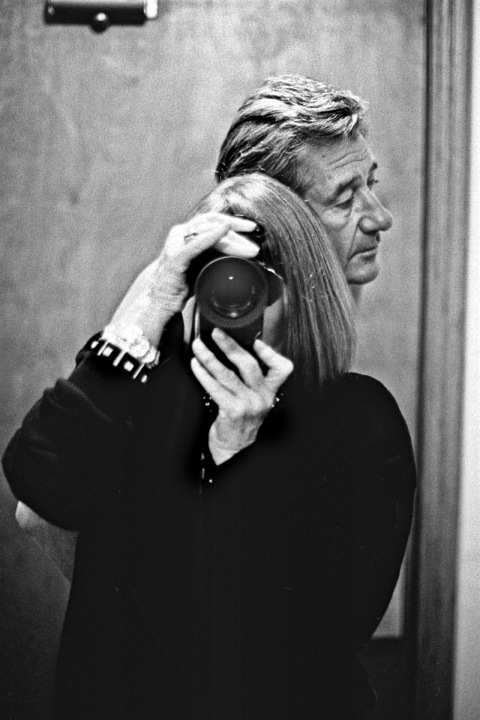 'Self-portrait with Helmut at the Chateau Marmont, 1991' © Alice Springs