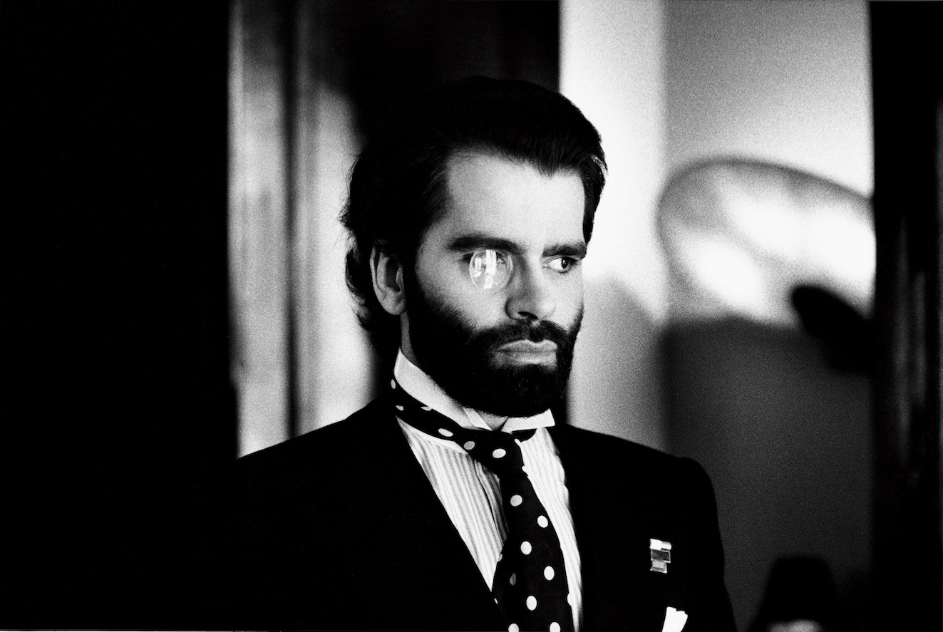 'Karl Lagerfeld, Paris, 1973' © The Helmut Newton Estate / Maconochie Photography