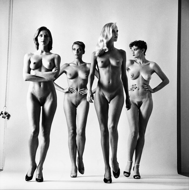 'Sie Kommen!, French  Vogue , Paris, 1981 (undressed)' © The Helmut Newton Estate / Maconochie Photography