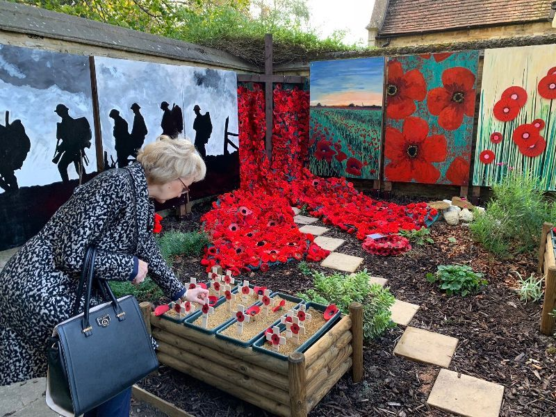 At the beautiful new Remembrance Day garden in Towcester, remembering the fallen with the local community.  Read more here .