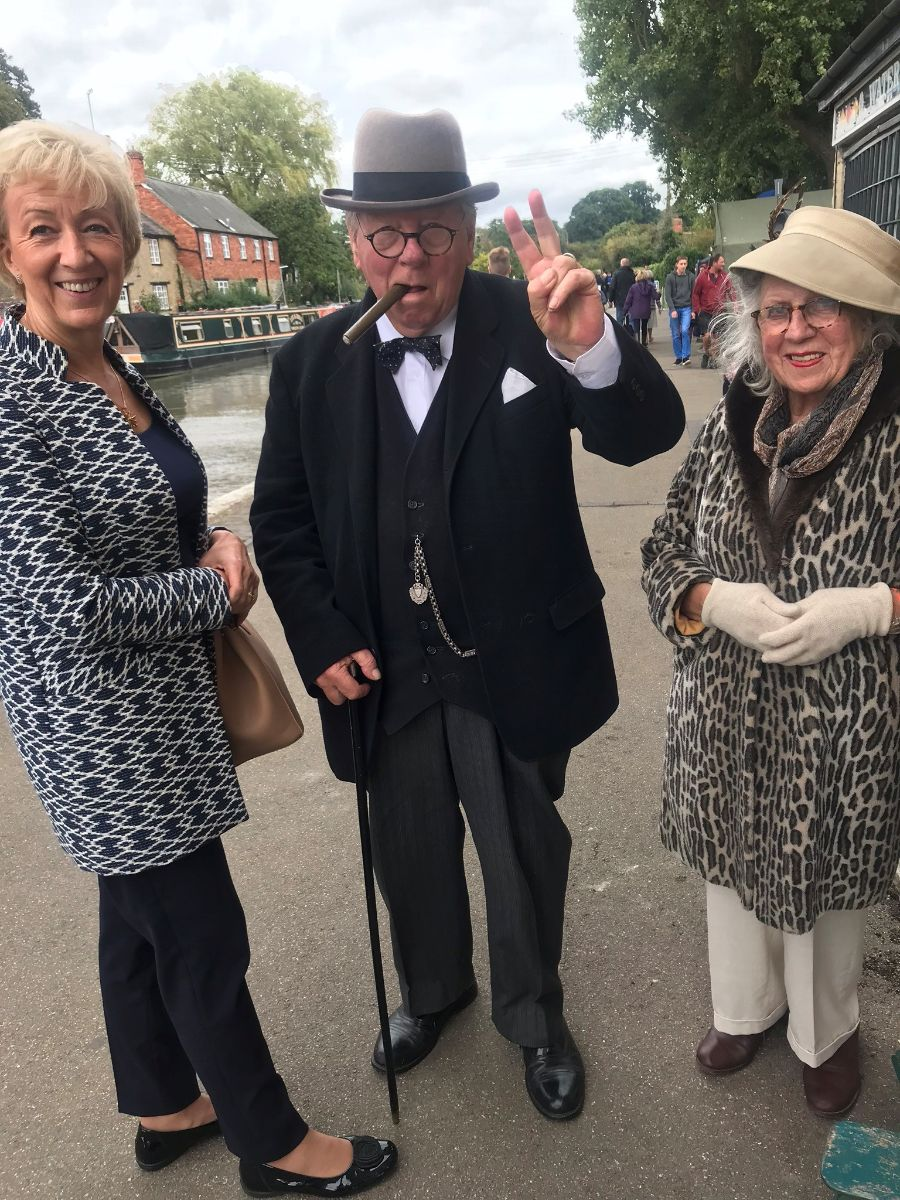 "Visiting the fantastic annual  Village at War  weekend in Stoke Bruerne with ""Winston and Clemmie"".  Read more here ."