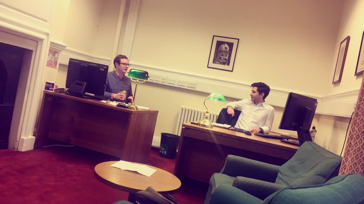 Tommy (L) and Luke (R) in my Westminster office.