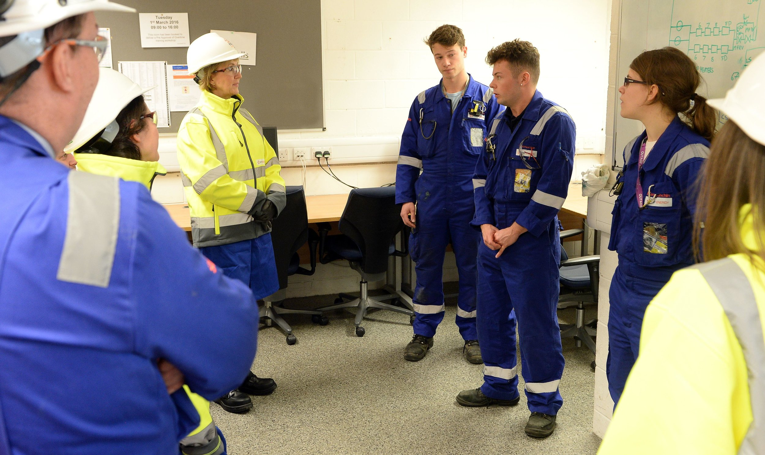 20160217 Leadsom at Sizewell B with Apprentices [04].jpg