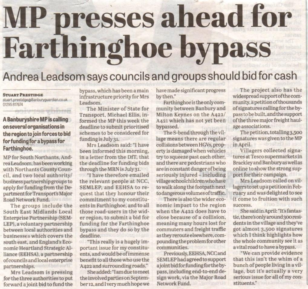 20190718 Farthinghoe Bypass Newspaper.jpg