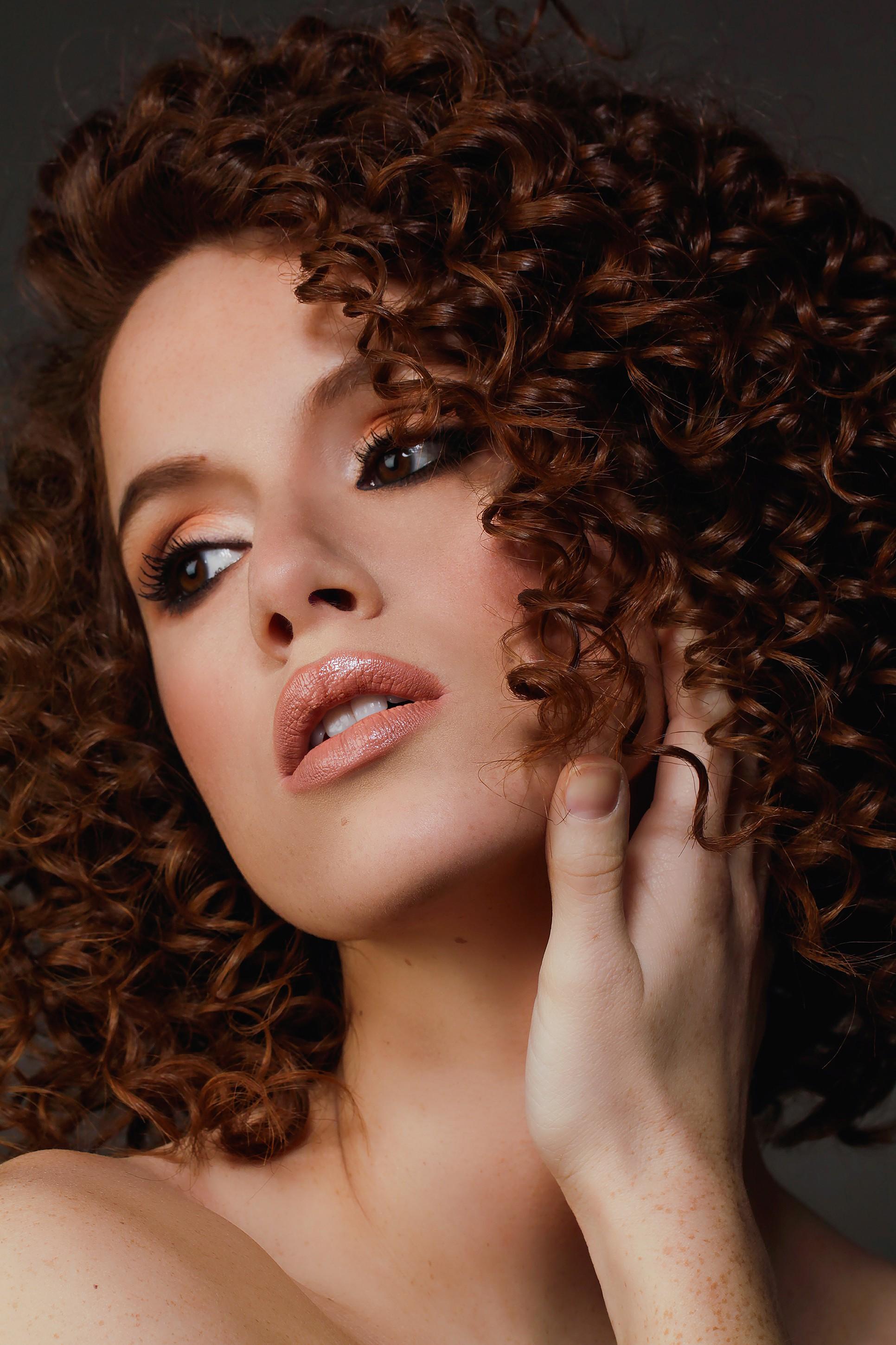 New curly haired model photoshoot. Makeup artist Near me Nottingham Best makeup artist Caroline Kent 2017.jpg