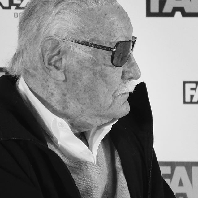 """Stan """"The Man"""" Lee at Boston Comic-con. He still got it. @therealstanlee  #bostoncomiccon"""