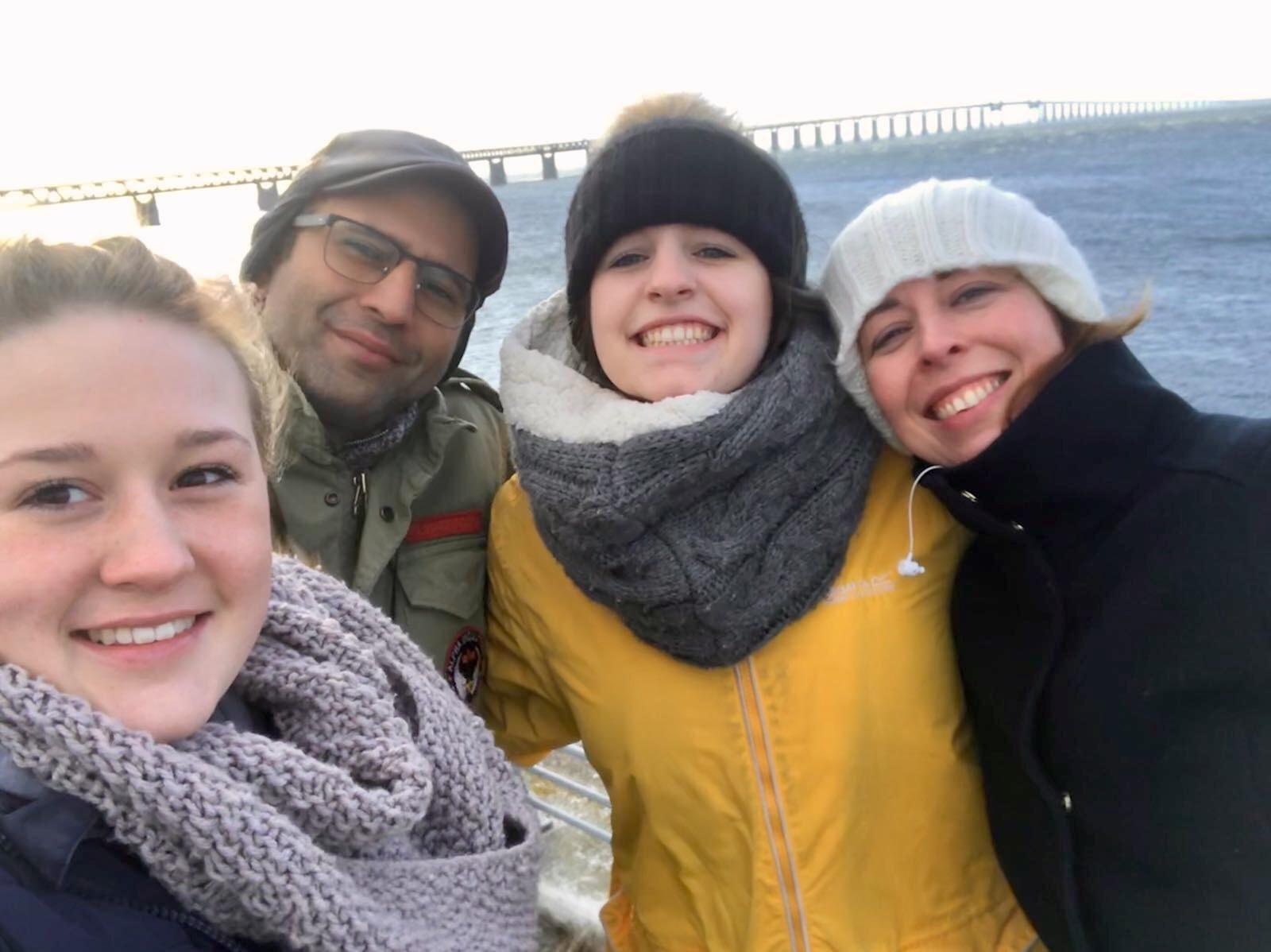 (l-r) Amber Fuller, Matthew Reza Afzali, Amy Fuller, Jude Hankinson