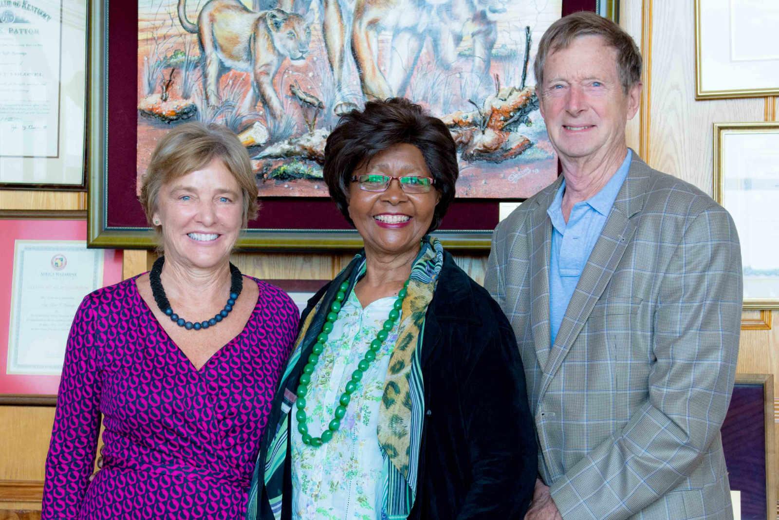 Nancy, Prof. Marangu & Rod