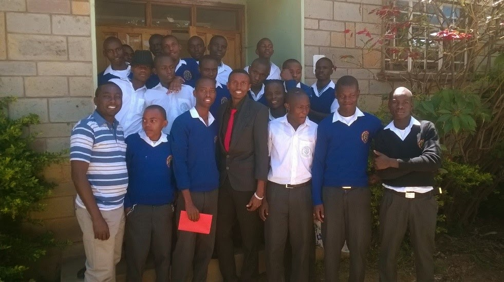 Visiting Students at Rongai Boys School