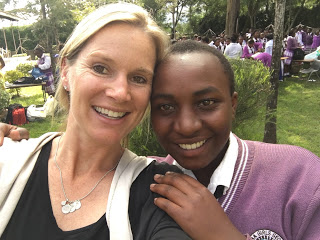 Blair pictured with EFAC Scholar at Naivasha Girls School