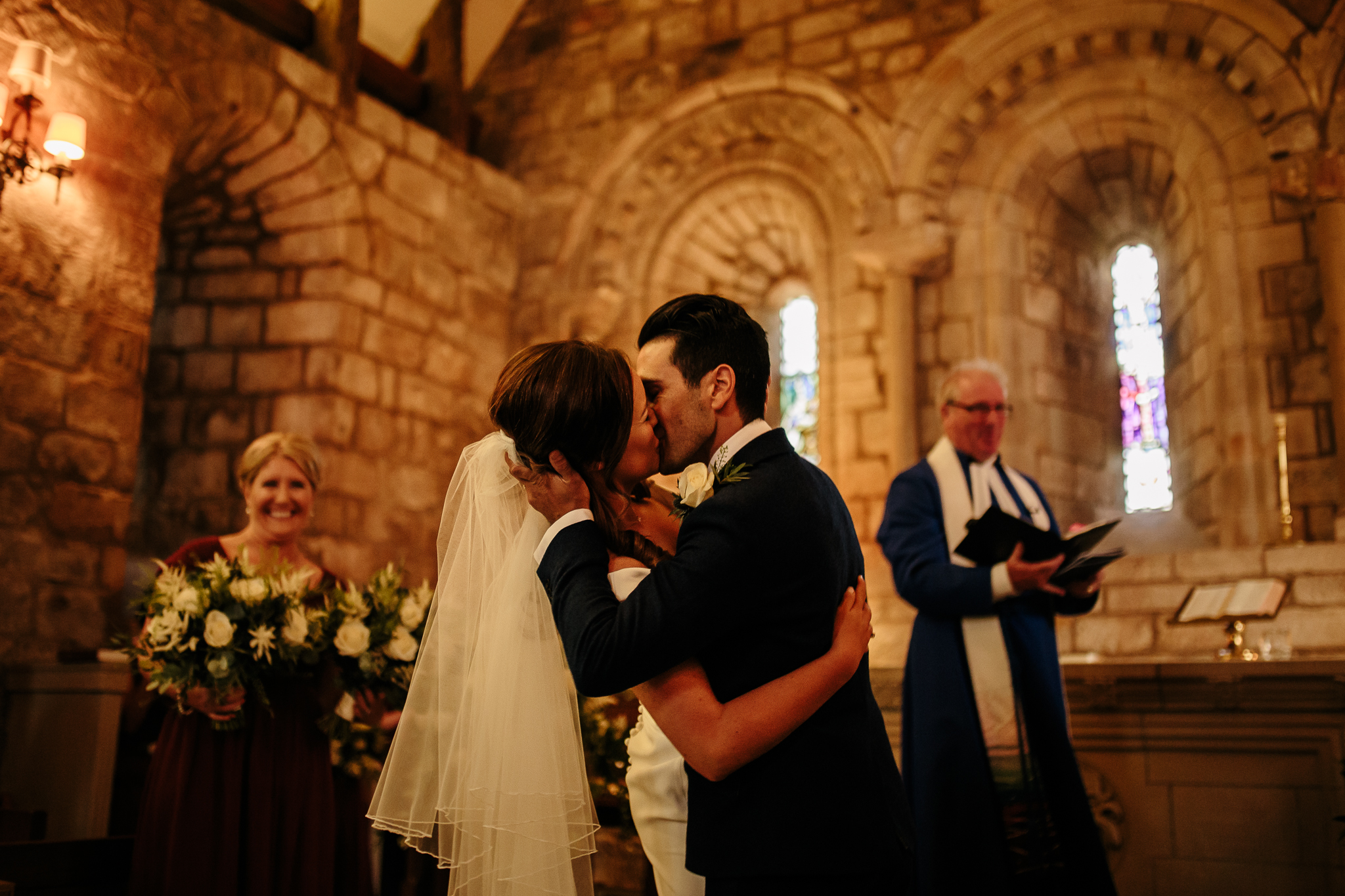 The first kiss - Kiss - Husband & Wife - Moments over mountains - Newly Wed - Bride & Groom Moments - Scotland Bride & Groom