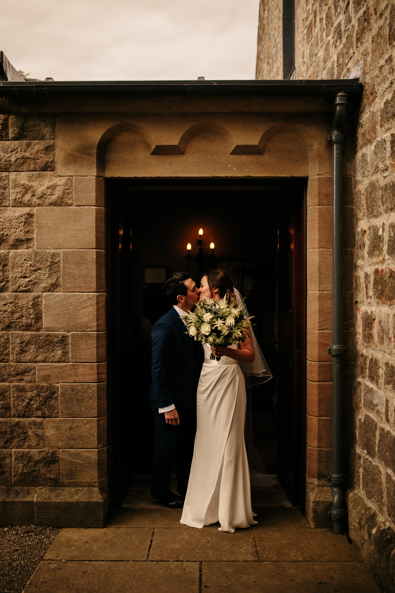 The Kiss - Kiss at the door - Kiss after ceremony - Husband & Wife - Perfect light - Forever Happy - Emma & Alex - WeddingsbyQay  (91 of 197).jpg