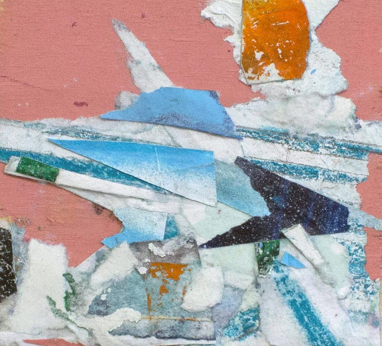 "Blush, Collage on Wood,2.75""x3"", 2017"
