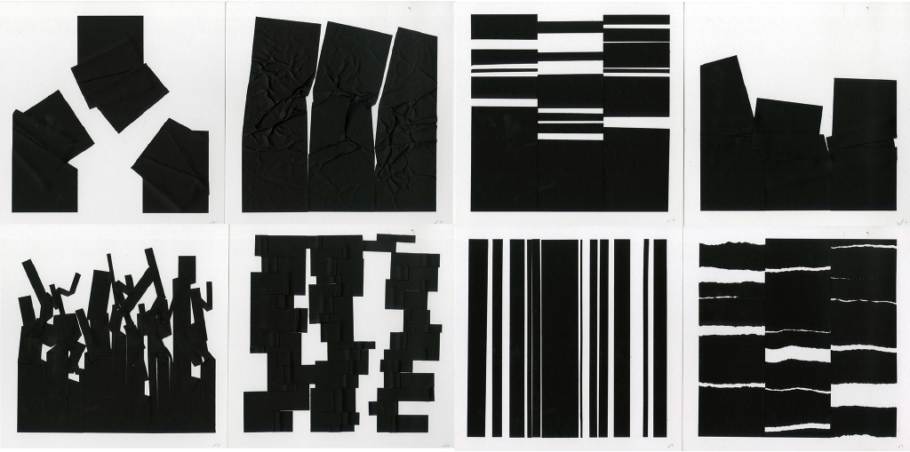 Hannah Jungemann, Color and 2D Design, Characteristics of Graphic Form: Stylistic Inventions, Black Paper, Indiana University, 2013