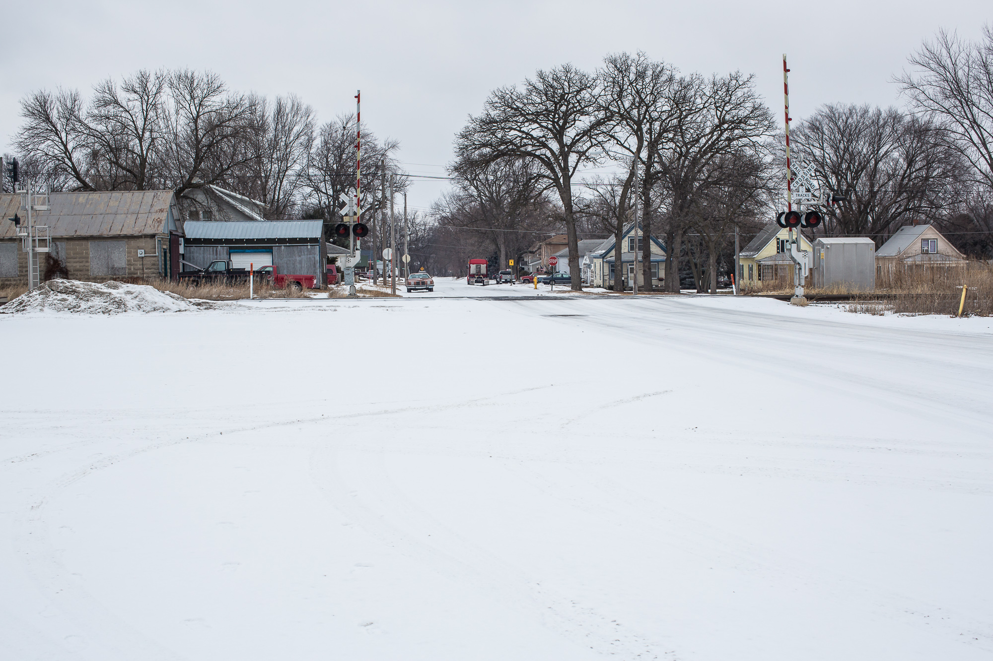 A residential neighborhood covered in snow on Saturday, January 18, 2014, in Webster City, IA.
