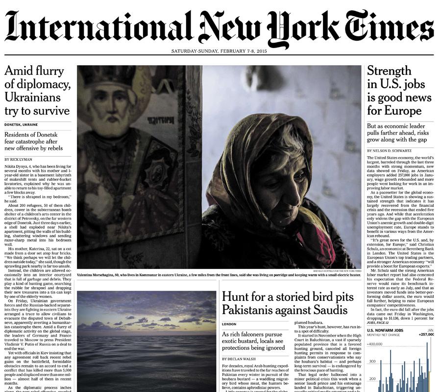 International New York Times, 7-8 February 2015