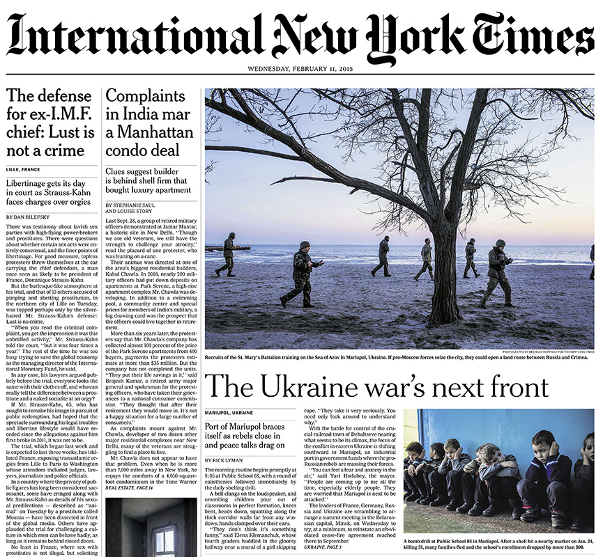 International New York Times, 11 February 2015