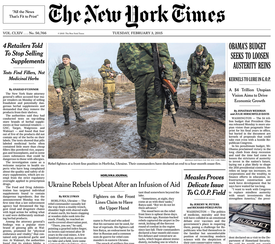 The New York Times, 3 February 2015