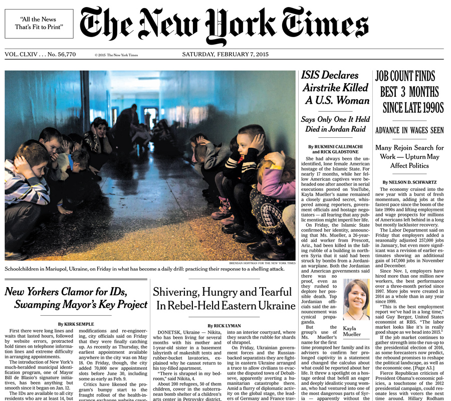 The New York Times, 7 February 2015