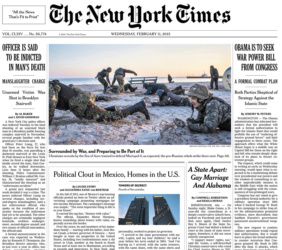 The New York Times, 11 February 2015