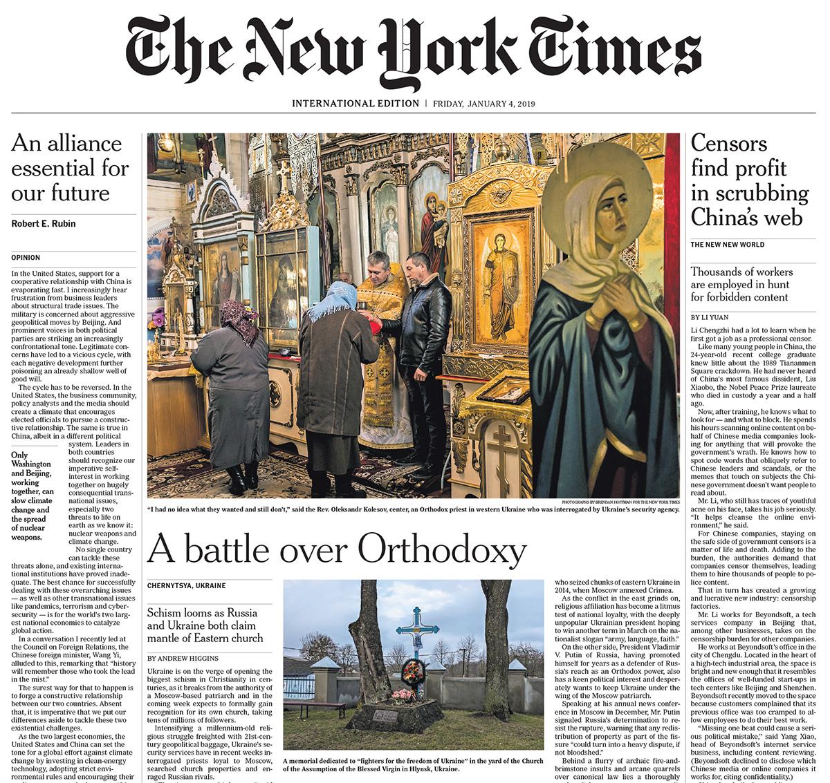 International New York Times, 4 January 2019